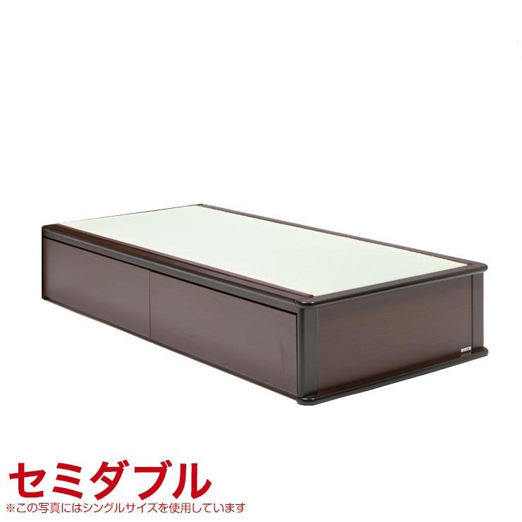 セミダブルベッド フレーム 収納無し ヘッドレスタイプ ベッドフレーム 森の恵みと職人の技が作り出した純国産畳ベッド ナンシー ロングタイプ 完成品 日本製 送料無料