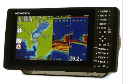 HONDEX HDX-9 9型ワイドカラー液晶 GPSプロッター魚探 アンテナ内蔵