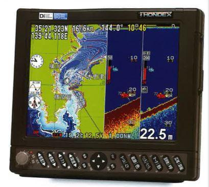 HONDEX HE7311-di-bo10.4型カラー液晶 GPSプロッター魚探2周波600W仕様アンテナ内蔵