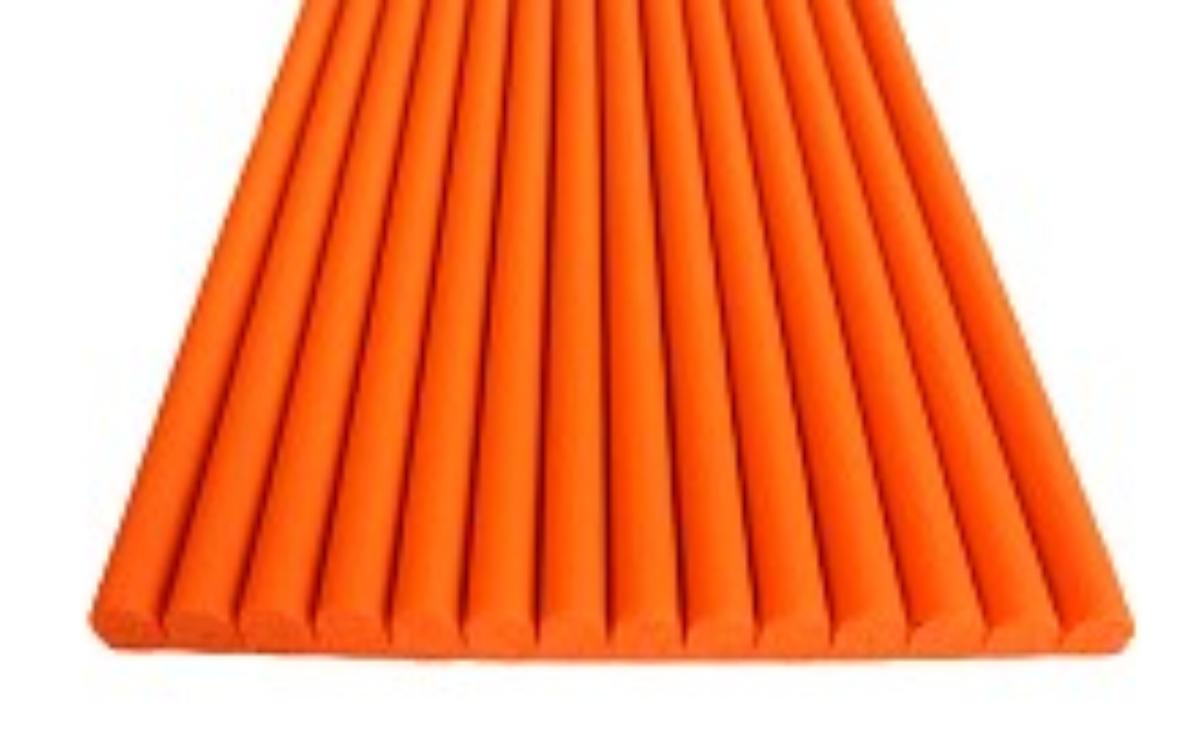 コーナーガード まもるくん 厚み 6.5 mm 幅 75 mm 長さ 10 M テープ付 オレンジ テーブル 角 クッション 安心 衝撃吸収 テープ付 オレンジ