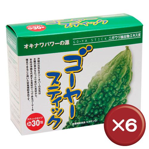 【送料無料】ゴーヤースティック 30包 6個セット共役リノール酸・ビタミンC||[健康食品>サプリメント>ゴーヤ]