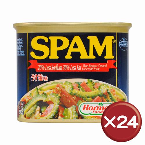 【送料無料】うす塩スパム(SPAM)・ポークランチョンミート 24缶セット|沖縄土産|保存食[食べ物>缶詰>ポークランチョンミート]