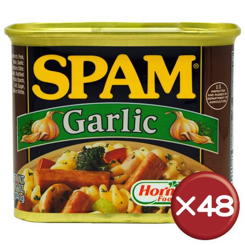 【送料無料】ホーメル スパム(SPAM) ガーリック 48缶セット|沖縄土産|保存食[食べ物>缶詰>ポークランチョンミート]