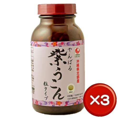 【送料無料】やんばる紫ウコン粒1500粒(容器) 3個セットクルクミン・サポニン・ミネラル|胃腸|[健康食品>サプリメント>ウコン]
