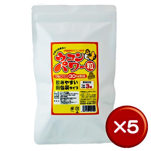 【送料無料】ウコンパワー 30包(袋) 5袋セットクルクミン|飲み会[健康食品>サプリメント>ウコン]