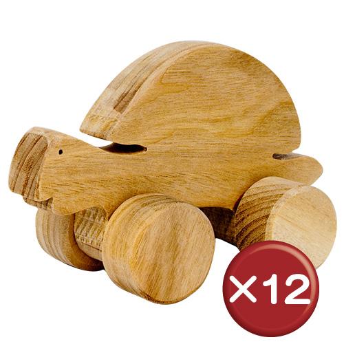 【送料無料】沖縄の木を使ったコロコロおもちゃ かめ 12個セット|おもちゃ|ベビー|木[日用品・雑貨>キッズ・ベビー用品>おもちゃ]