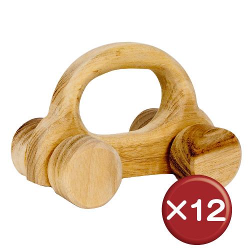 【送料無料】沖縄の木を使ったコロコロおもちゃ くるま 12個セット|おもちゃ|くるま|ベビー[日用品・雑貨>キッズ・ベビー用品>おもちゃ]