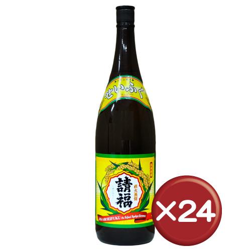 【送料無料】直火請福 30度 一升瓶(1800ml) 24本セット 泡盛 請福 水割り[飲み物>お酒>泡盛]