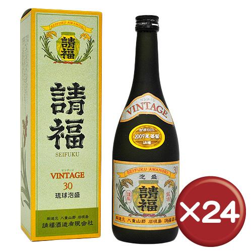 【送料無料】請福ビンテージ 30度 3年古酒 4合瓶(720ml) 24箱セット 泡盛 請福 水割り[飲み物>お酒>泡盛]