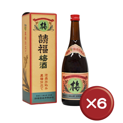 【送料無料】請福梅酒(12度) 4合瓶 6本セット|梅酒|泡盛|請福梅酒[飲み物>お酒>リキュール]