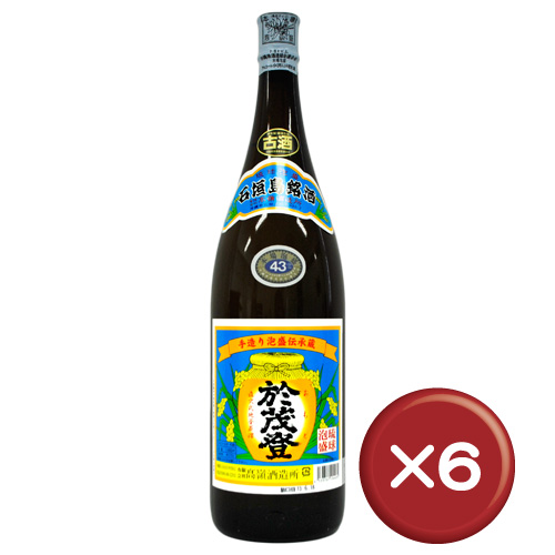 【送料無料】おもと古酒 43度 泡盛 一升瓶(1800ml) 6本セット|天然水|香り|ブランデー[飲み物>お酒>泡盛]