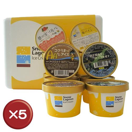 【送料無料】Snow Lagoon Ice Cream OKINAWAバラエティパック12個入り【アイスクリーム】 5箱セット|アイスクリーム|ジェラート|贈り物[食べ物>スイーツ・ジャム>アイスクリーム] お歳暮 御歳暮 おせいぼ