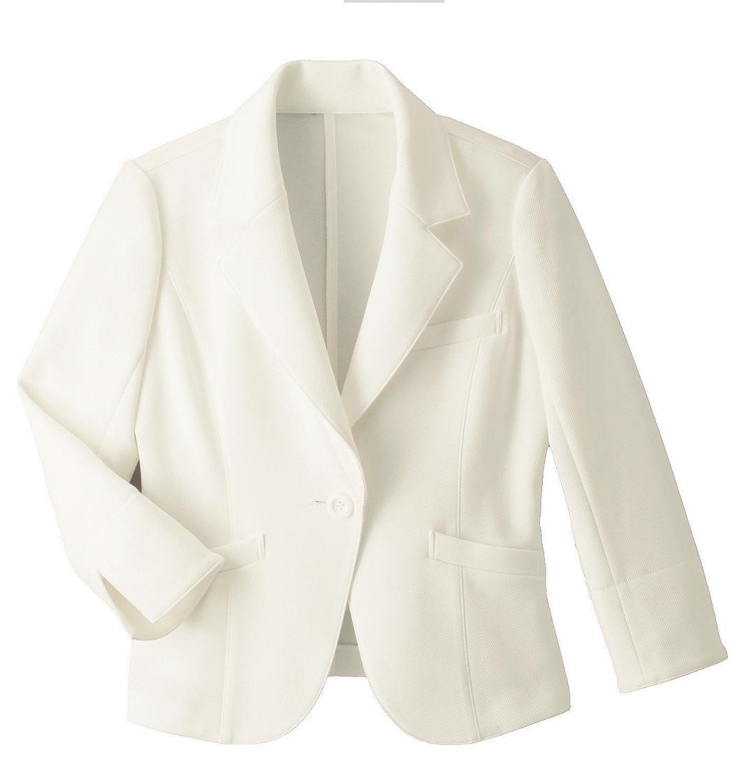 【ハネクトーン】ジャケット(裏なし)ホワイト(WP159-7)