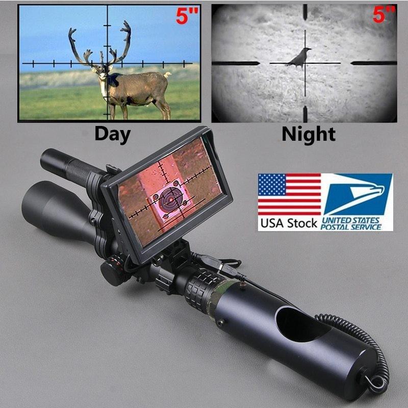 ナイトビジョン スコープ サバゲー ライフル 銃 屋外 狩猟 戦術 懐中電灯 視力 デジタル 赤外線 モニター 倉庫 バッテリー 情熱セール