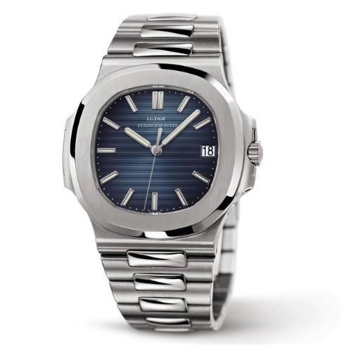 LGXIGE メンズ 腕時計 カレンダー 新着 クォーツ ビジネス 海外ブランド ハイブランド シルバーブルー ファッション 希少 メンズウォッチ 40mm おしゃれ 全品送料無料 クォーツ腕時計