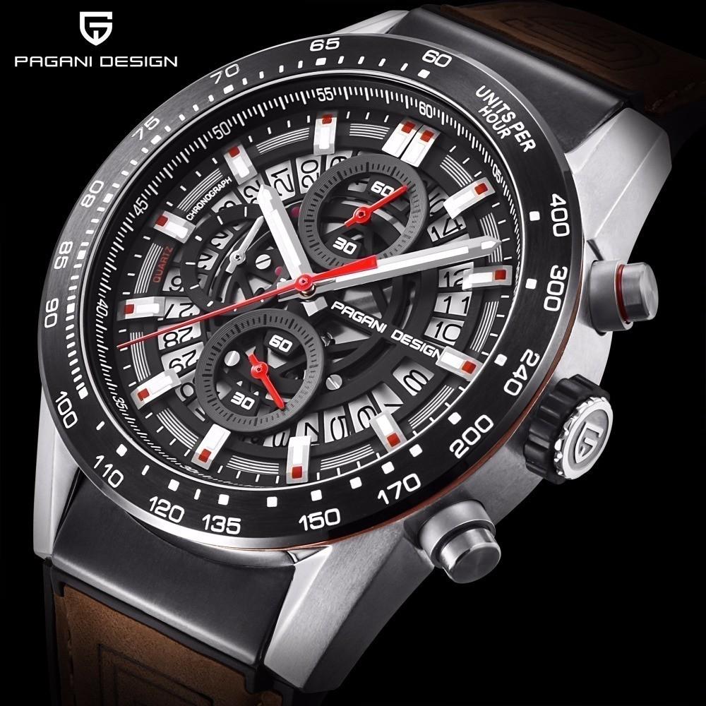 PAGANI DESIGN メンズ 腕時計 ハイエンドオマージュ 蔵 ハイエンド オマージュウォッチ CARRERA 超歓迎された クロノグラフ タキメーター 複数カラー有