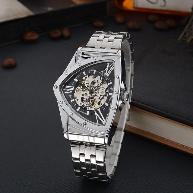 爆売り GD GLEVDO メンズ 腕時計 機械式 オマージュ シースルーバック 自動巻き 日本未発売 ブラック 高い素材