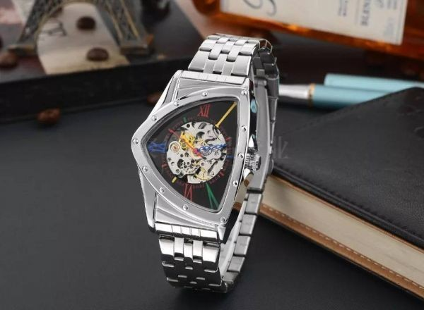 GD 本物 GLEVDO メンズ 腕時計 機械式 シースルーバック 日本未発売 マルチカラー 人気急上昇 自動巻き オマージュ