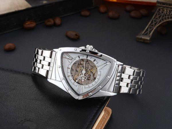 GD GLEVDO メンズ セール 登場から人気沸騰 腕時計 機械式 シースルーバック 大人気! ホワイト 自動巻き オマージュ 日本未発売