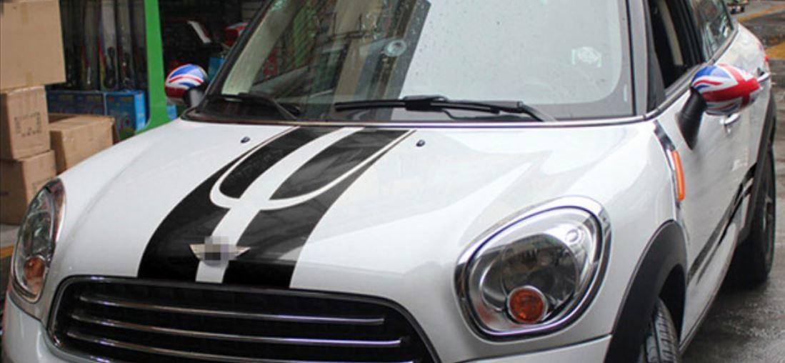 ミニクーパー ステッカー 公式ストア セット 超人気 デカール カントリーマンR60 レーシングストライプ サイド h00141
