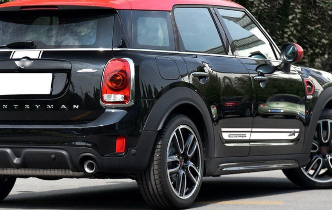 ミニクーパー ステッカー セット ストライプ トランク+エンジン+リアサイド 本物 記念日 デカール
