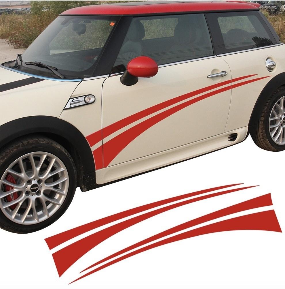 ミニクーパー ステッカード アサイド ストライプ デカール R50 R52 R53 R56 R57 R58 R59 R60 F55 F56 R61