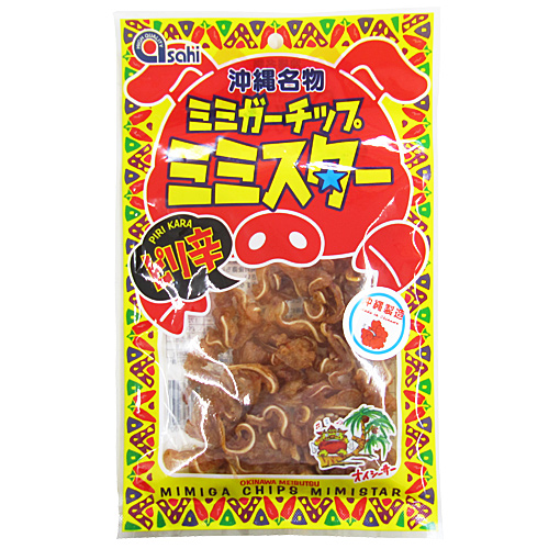 嘎吱嘎吱的質地,富含膠原的 ♪ 辣辣豬耳朵與晶片 (40 g) 05P30May15