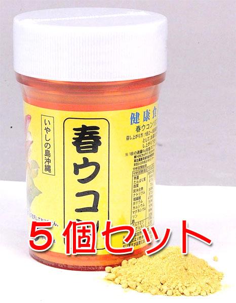 〔比嘉製茶〕沖縄県産 本物 春ウコン粉 100g 容器入り 新入荷 流行 5個セット