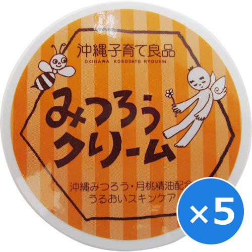 みつろうクリーム 蜜蝋 みつろう 保湿 クリーム 赤ちゃん 顔 子供 乾燥肌 敏感肌 沖縄子育て良品 25g×5個