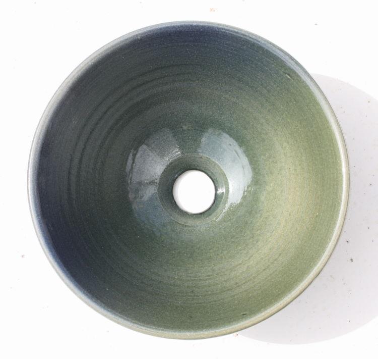 手洗いボウル/グラデーション洗面鉢 沖縄陶器やちむん製[洗面鉢][洗面ボール][洗面ボウル][手洗い鉢][手洗いボール]送料無料/NO-45