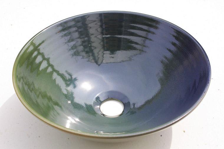 沖縄陶器やちむんの手洗い鉢