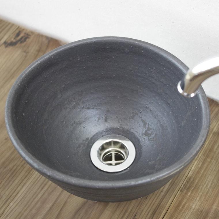 [手洗いボウル][手洗いボール][手洗い鉢]NO-15/沖縄陶器やちむん鉢/陶器/和風/シンプル/モダン/送料無料/楕円形