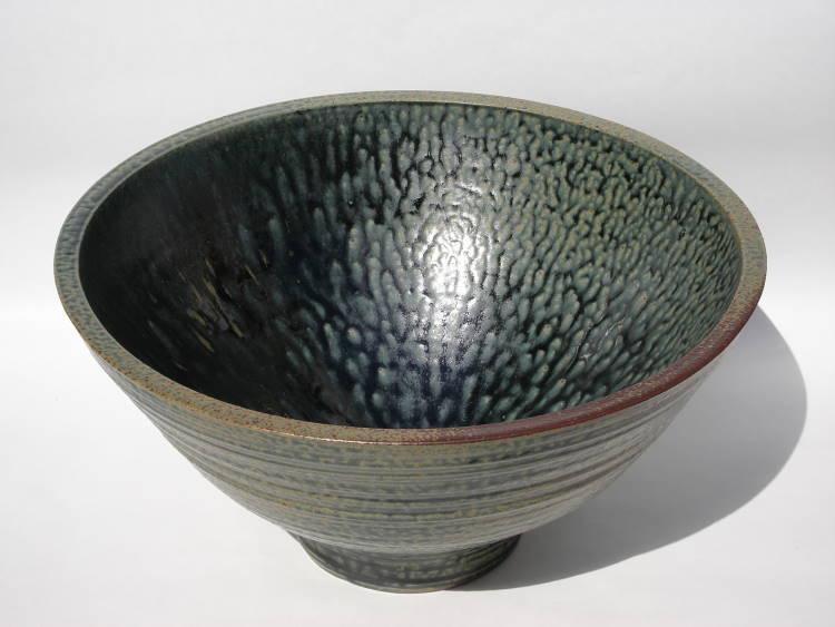 洗面ボウル/陶器洗面鉢/陶器洗面鉢/ 沖縄陶器やちむん製[洗面鉢][洗面ボール][洗面ボウル][手洗い鉢][手洗いボール]  NO-22