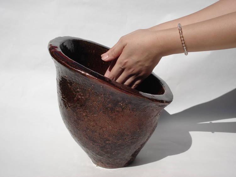 [手洗いボウル][手洗いボール][手洗い鉢][洗面ボウル][洗面ボール][洗面鉢]沖縄陶器やちむん鉢/陶器/和風/シンプル/モダン/送料無料/NO-33