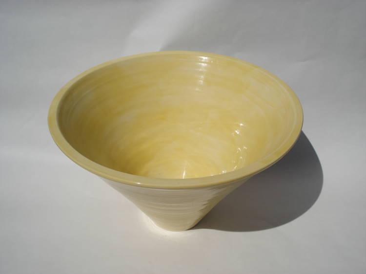 洗面ボウル/陶器洗面鉢  NO-43 黄色