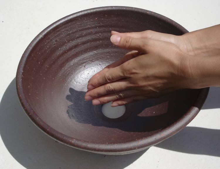 [洗面ボウル][洗面ボール][洗面鉢]/NO-59[手洗いボウル][手洗いボール][手洗い鉢]沖縄陶器やちむん鉢/陶器/和風/シンプル/モダン/送料無料