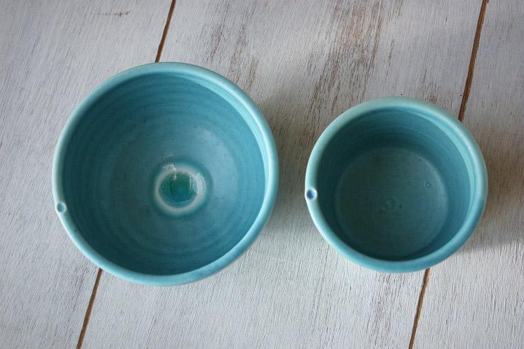 結婚内祝い 新築内祝い 引出物 内祝い/おしゃれでかわいい沖縄陶器/やちむんと琉球ガラスのボウル/プレミアムセット/ターコイズ色1/ギフト/食器