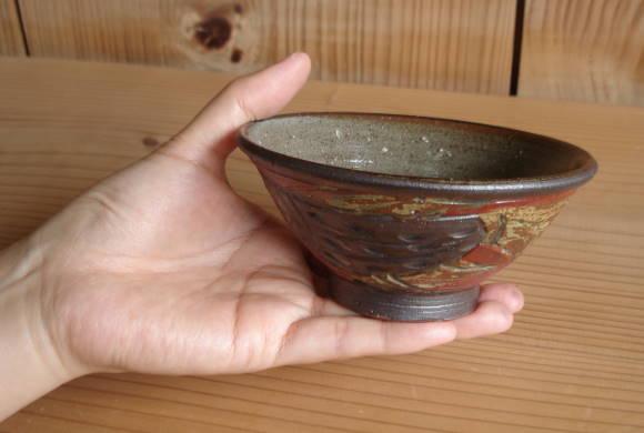 赤絵魚紋茶碗[味わい](小)
