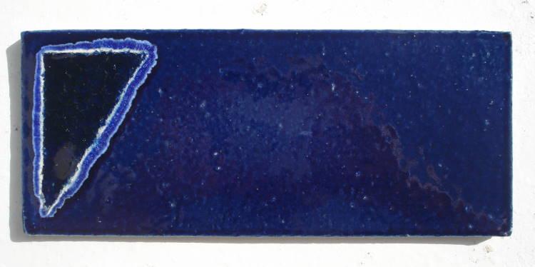 表札/沖縄陶器と琉球ガラスのやちむんの表札/おしゃれな戸建表札/タイル/陶板/オリジナルの一点物。陶器と琉球ガラスの表札[NO-56]おしゃれ[送料無料]