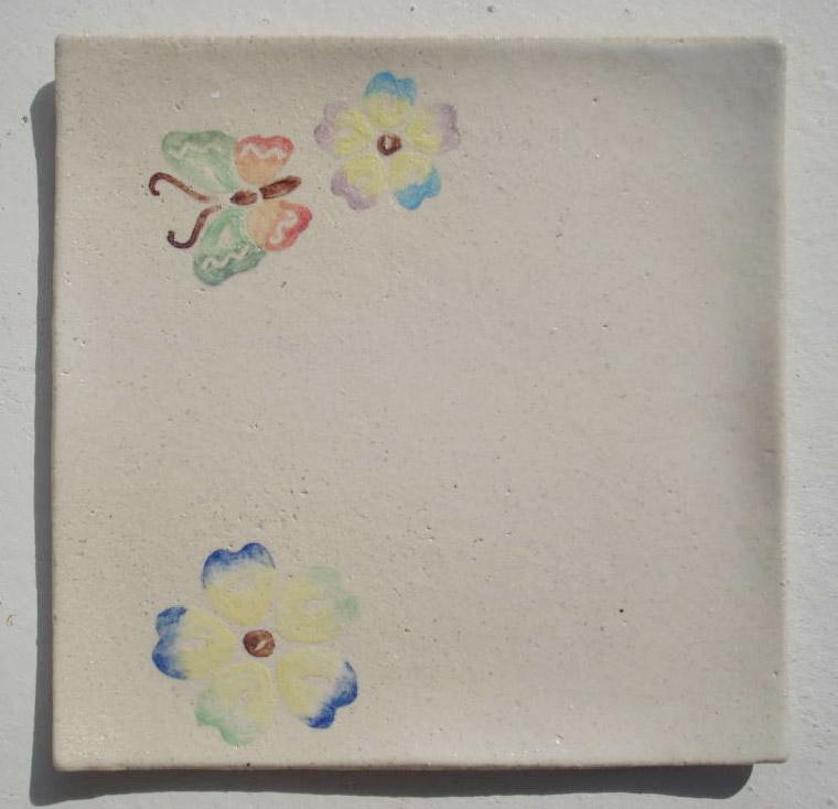 紅型の陶器・陶板やちむん沖縄表札[送料無料]新作[K-10]おしゃれなデザイン