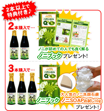 """Enzyme Prize + 11 Department? s? t try half price ¥ 1,000 ☆ enzyme diet recommended ♪ ultra Orthodox Okinawa produced 100% ripe noni undiluted aged one year! """"But fine ' trial 300 ml-noni SOAP test 10 g ' as in 'ノニブック' three!"""