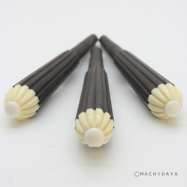 三線 カラクイ (糸巻き) 県内職人製 カンプー 玉白 3本セット