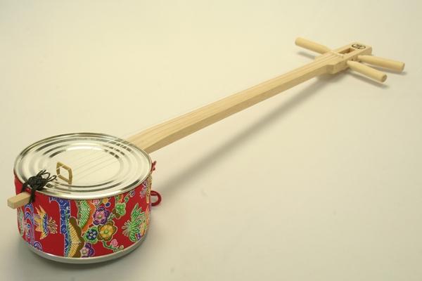 kankara三線用tiga(錢腰帶)琉球胭脂紅型花紋:紅