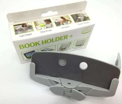 どこでも使える折りたたみ型ミニ書見台 ページ押さえ 人にも本にもやさしい設計です kindle iPadなど 訳あり品送料無料 eBookにも対応 ミニ お気に入 おうちじかんを楽しくする読書グッズBookBax-mini _ライトグレイ サライ8月号42頁に掲載 ブックバックス