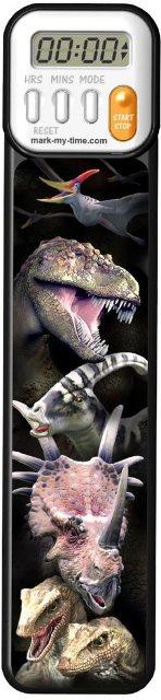 読書時間を楽しく計測 アメリカで大人気のデジタルなしおりです 誕生日 お祝い 新しく3D柄が仲間入りしました デジタルなしおりmark-my-time 3D 恐竜 日時指定