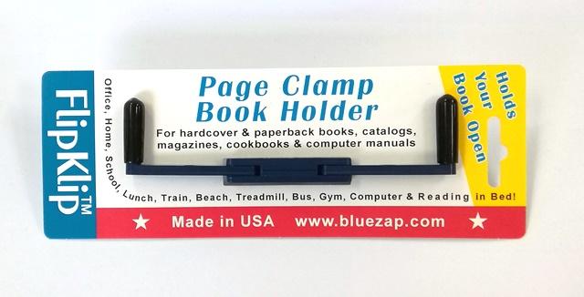 開いたページをX型にしっかりホールド しっかり本を押さえてくれて 楽に本が読めるブックストッパーアメリカ製 読書のための便利なブックホルダー フリップクリップ ミッドナイトブルー FlipKlip アウトレット☆送料無料 アウトレットセール 特集