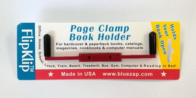 開いたページをX型にしっかりホールド 新品 しっかり本を押さえてくれて 新作アイテム毎日更新 楽に本が読めるブックストッパーアメリカ製 読書のための便利なブックホルダー FlipKlip ガーネット フリップクリップ
