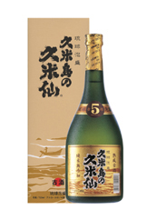 泡盛町 kumesen 黑色 5 年岁 40 720 毫升 / 冲绳烧酒白酒冲绳琉球泡盛 /