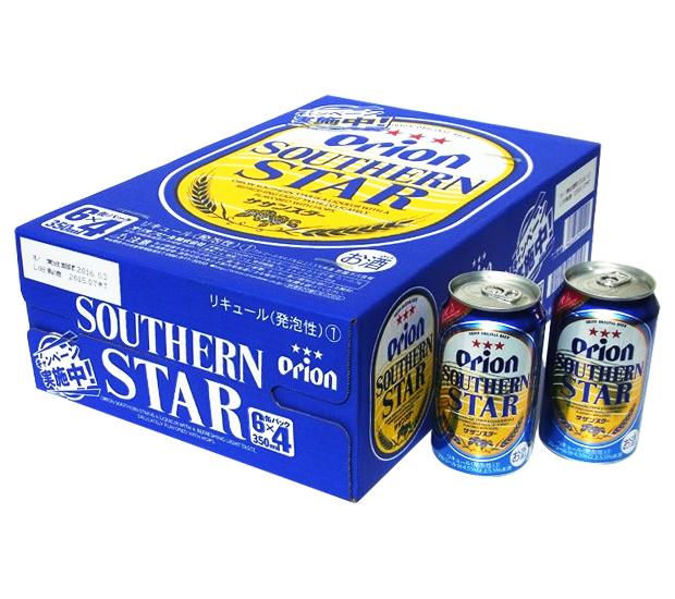 猎户座南星 350 毫升 6 罐包 x 4 纸箱 (1 例)、 猎户座啤酒,啤酒和新流派的冲绳是