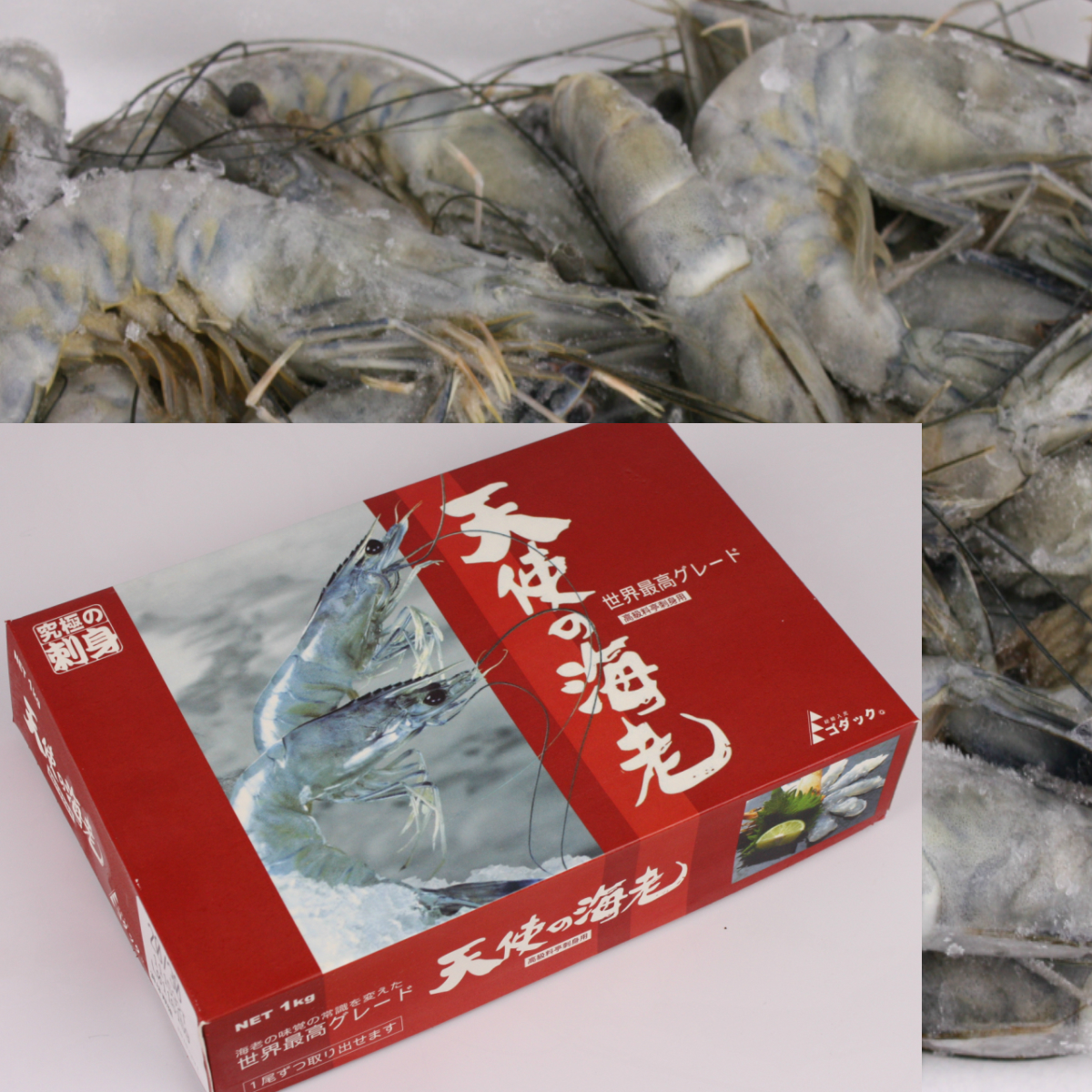 海老の種類はその名も パラダイス プラウン なんともゴージャスな名前です 美味しくない訳がない 新作続 かなり大きなサイズだから BBQにも最適です 20~30尾入り 大人気 特々大1kg お刺身可 天使の海老 再々入荷